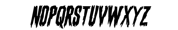 Eva Fangoria Staggered Italic Font LOWERCASE