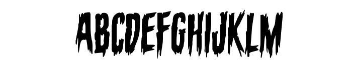 Eva Fangoria Staggered Rotalic Font LOWERCASE