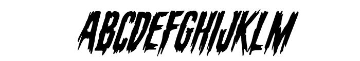 Eva Fangoria Super-Italic Font UPPERCASE