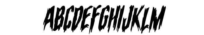 Eva Fangoria Warped Italic Font UPPERCASE