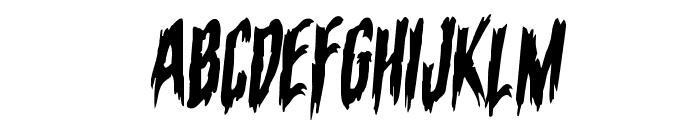 Eva Fangoria Warped Rotalic Font UPPERCASE