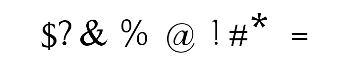 Evanescent Font OTHER CHARS
