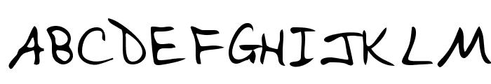 EvelynsHand Regular Font UPPERCASE