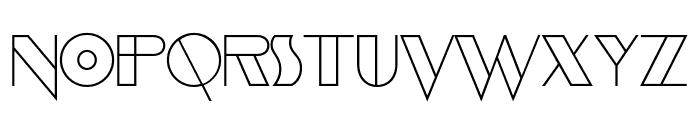 EvensongHollow-Regular Font UPPERCASE