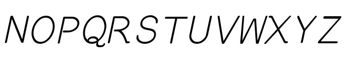 EversonMono-Oblique Font UPPERCASE