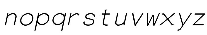 EversonMono-Oblique Font LOWERCASE