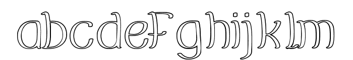 EverybodyHollow Font LOWERCASE