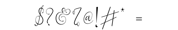 Everything Calligraphy Font OTHER CHARS