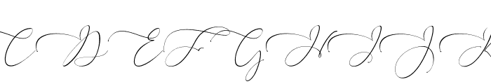 Everything Calligraphy Font UPPERCASE