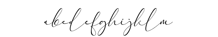 Everything Calligraphy Font LOWERCASE