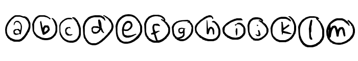 Everything Unique Font LOWERCASE