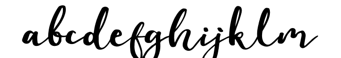 Evident Font LOWERCASE