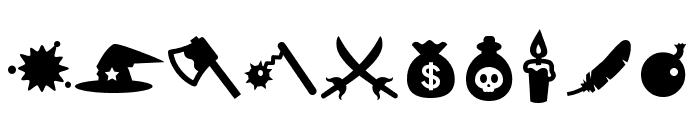 Evilz Font OTHER CHARS