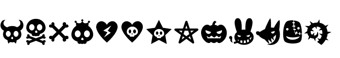 Evilz Font LOWERCASE