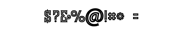 Evolve Inline Font OTHER CHARS