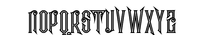 Evolve Inline Font UPPERCASE