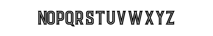 Evolve Inline Font LOWERCASE