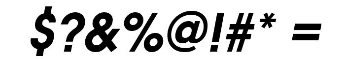 Evolventa Bold Oblique Font OTHER CHARS