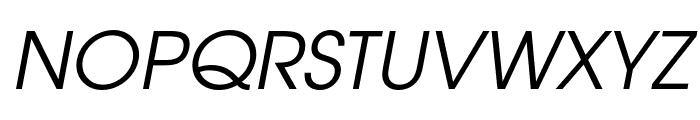 Evolventa Oblique Font UPPERCASE