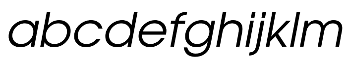Evolventa Oblique Font LOWERCASE