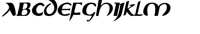Evangeliaire Uncial Uncial Italic Font UPPERCASE