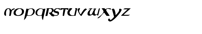 Evangeliaire Uncial Uncial Italic Font LOWERCASE