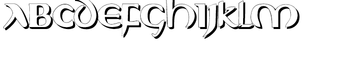 Evangeliaire Uncial Uncial Shadow Font UPPERCASE