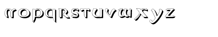 Evangeliaire Uncial Uncial Shadow Font LOWERCASE
