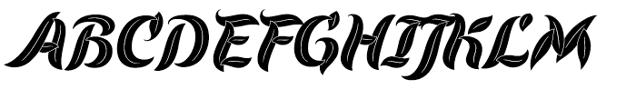 Evergreen Dusk Font UPPERCASE