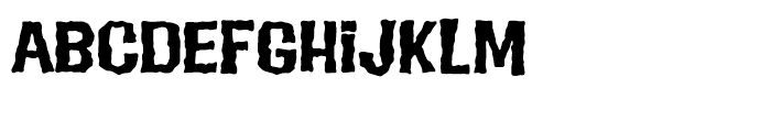 Evil Intentions Regular Font UPPERCASE