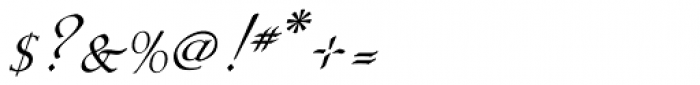 Eva Antiqua Light Italic Font OTHER CHARS
