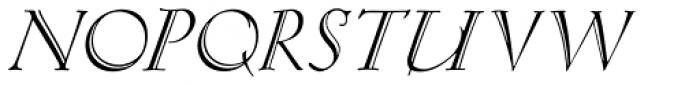 Eva Antiqua Light Italic Font UPPERCASE