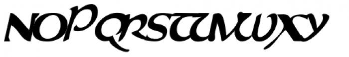 Evangeliaire Uncial Italic Font UPPERCASE