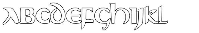 Evangeliaire Uncial Outline Font UPPERCASE