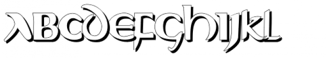 Evangeliaire Uncial Shadow Font UPPERCASE