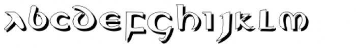 Evangeliaire Uncial Shadow Font LOWERCASE