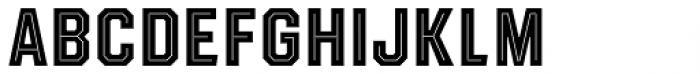 Evanston Tavern 1846 Bold Inline Font UPPERCASE