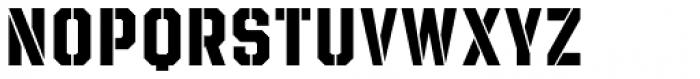 Evanston Tavern 1846 Bold Stencil Font LOWERCASE