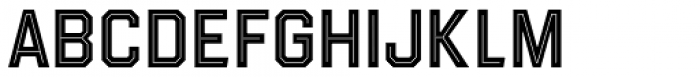 Evanston Tavern 1858 Medium Inline Font LOWERCASE