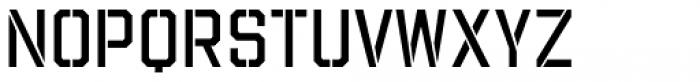 Evanston Tavern 1858 Regular Stencil Font UPPERCASE
