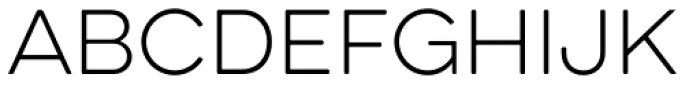 Eveleth Clean Thin Font UPPERCASE