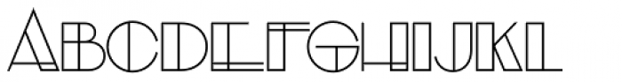 Evensong Hollow Font UPPERCASE