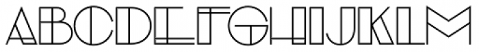 Evensong Hollow Font LOWERCASE