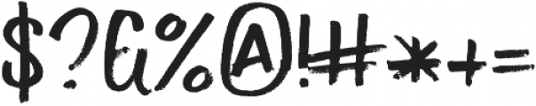 EXIT Regular otf (400) Font OTHER CHARS