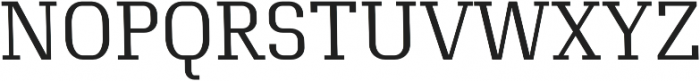 Exclusive regular otf (400) Font UPPERCASE