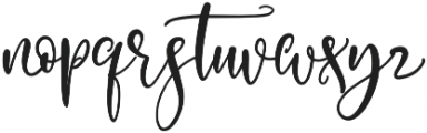 Exclusively Chic otf (400) Font LOWERCASE