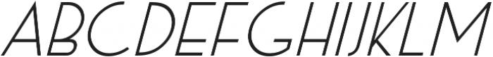 Exco Italic otf (400) Font UPPERCASE