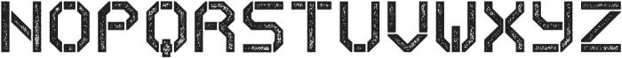 Exomoon Letterpress otf (400) Font UPPERCASE