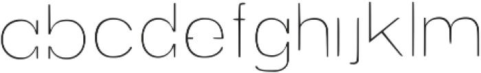 Exoplanet Regular otf (400) Font LOWERCASE