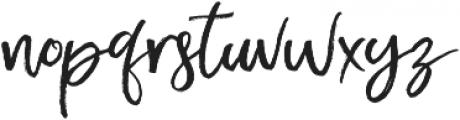 Exotic Taste Script otf (400) Font LOWERCASE